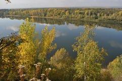 Oufa, rivière, beauté, été, Russie, grand endroit photographie stock