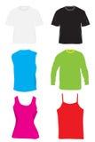 oufit μπλούζες πουκάμισων Στοκ Εικόνα