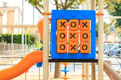 Oughts and crosses game Stock Photos