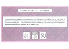 OUI AUCUN ` T d'I DON NE CONNAISSENT le bulletin de vote italien images stock