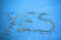 OUI bleu coloré Photos stock