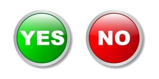 Oui boutons de numéro illustration libre de droits