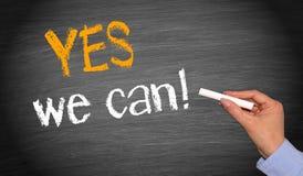 Oui nous pouvons ! Images libres de droits