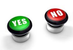 Oui ou non boutons illustration libre de droits