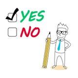 Oui ou non choix Image libre de droits