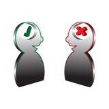 Oui ou non icônes de logo Illustration Libre de Droits