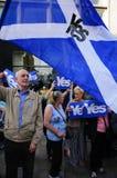 Oui référence 2014 d'Indy d'écossais de défenseurs Image libre de droits