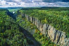 Ouimet峡谷,安大略,加拿大天线  免版税库存图片