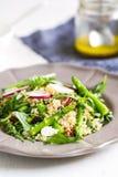 Ouinoa con l'insalata della feta e dell'asparago Fotografie Stock