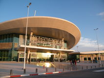 Oujda airport, North Maroc. Main new building of international Airport Oujda in north Maroc, near Algeria borders, on coast of Mediterrain sea stock photography
