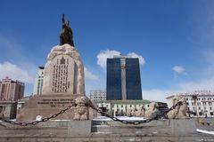 Oulan-Bator ou Ulaanbataar, Mongolie Photo libre de droits