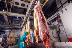 Oulan-Oude, Russie - 1er mars 2016 : Usine pour la production de la viande de porc Image stock
