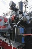 Oulan-Oude, RUSSIE - juillet, 16 2014 : Vieille série de la locomotive à vapeur de vintage ea sur la plate-forme de la station d' Image stock
