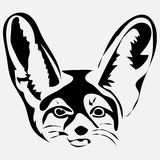 Ouline little fox fenech vector illusrtration. Can be use for logo stock illustration