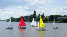 OULTON, NORFOLK/UK - MAY 23 : Sailing on Oulton Broad in Oulton Stock Image