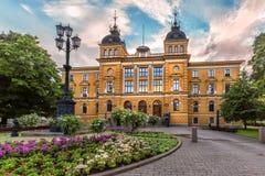 Oulu urzędu miasta Oulun kaupungintalo Oulu, Finlandia Obrazy Royalty Free