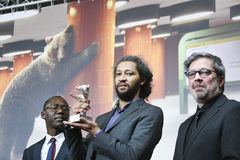 Oumar Sall, Alain Gomis, Arnaud Dommerc Stockbilder