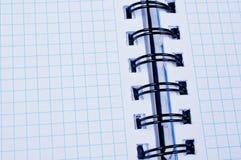 öppen paper white för limbindninganteckningsbok Arkivfoton