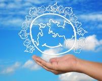 öppen värld för god handhälsa Arkivfoton