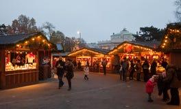 Österrike julmarknad vienna Royaltyfri Bild