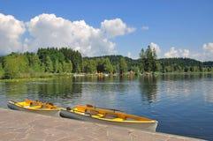 Österrike kitzbuehel lakeschwarzsee Arkivbild