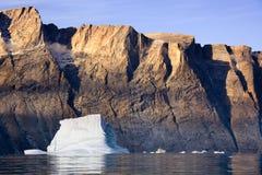 östlig fjord franz greenland joseph Royaltyfri Foto