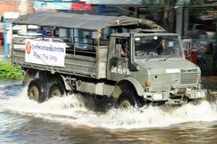översvämning thailand Royaltyfria Bilder