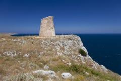 övre watchtower för klippa Arkivbild