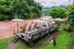 Oun I Mang Homestay i det Bo Kluea området, Nan Province, Thailand Royaltyfri Fotografi
