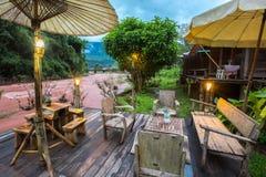 Oun I Mang Homestay i det Bo Kluea området, Nan Province, Thailand Fotografering för Bildbyråer