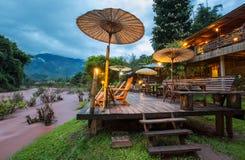 Oun I Mang Homestay i det Bo Kluea området, Nan Province, Thailand Royaltyfri Foto