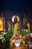 OunaLom-Tempel enth?lt ein Augenbrauenhaar von Buddha kambodscha stockfotografie