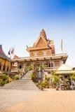 OunaLom Temple contains an eyebrow hair of Buddha. Cambodia stock photos