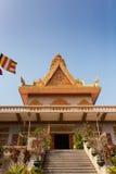 OunaLom Temple contains an eyebrow hair of Buddha. Cambodia Stock Photo