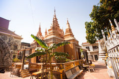 OunaLom Temple contains an eyebrow hair of Buddha. Cambodia Royalty Free Stock Image
