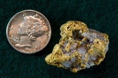 Nevada Gold / Quartz Nugget Royalty Free Stock Images