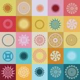 Ound element och symboler med specialavkänning Royaltyfri Foto
