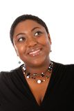 Oung African American Woman Beautiful Smile Royalty Free Stock Photography