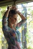Oung woman portrait stock image