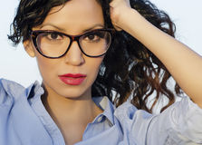 Oung woman wearing eye glasses Stock Photography