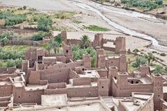 Ounila flod på Ait Ben Haddou, Marocko Royaltyfri Fotografi