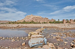 Ounila river near Ait Ben Haddou, Morocco Royalty Free Stock Photos