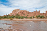 Ounila river near Ait Ben Haddou, Morocco Stock Photo