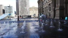 Ountains near Philadelphia, Pennsylvania city hall stock footage