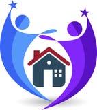 Ouple房子商标 图库摄影