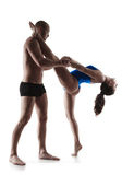 Сouple exercising workout aerobic Royalty Free Stock Photography