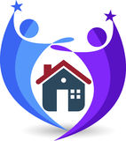 Ouple house logo. Illustration art of a couple house logo with  background Stock Photography
