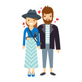 The сouple in love. Vector Illustration Royalty Free Stock Images