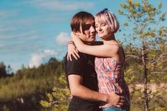 ?ouple nell'amore Fotografie Stock Libere da Diritti