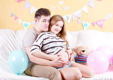 Сouple waiting for a miracle Stock Image